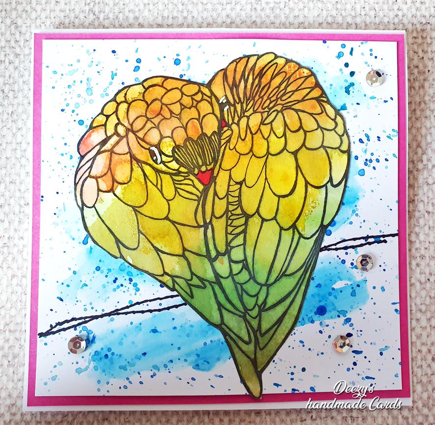 Deezy's handmade card