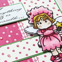 Creative Knockouts Challenge #362- Sparkle and Shine- Bugaboo Stamps